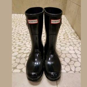 aceb1fd8cdf8 Hunter Shoes - Hunter Original Short Gloss Waterproof Rain Boots